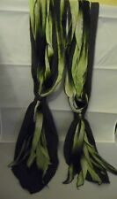DESIGNER 6 SECTIONED RIBBON STRIPED LETTUCE SCARF 6ft LONG NEW & TAGGED