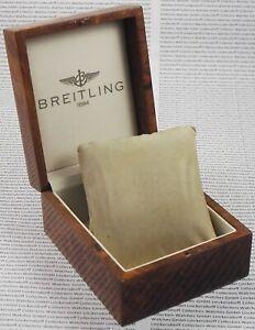 Breitling Prunk-Holz-Box für Armbanduhren  aus Vogelaugen-Ahorn