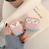Cute Protector Protective Gradient Color PC Case Cover For Airpods Pro 1 2