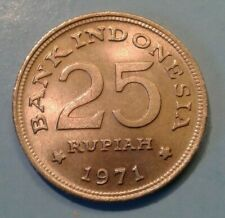 Indonesia 25 Rupiah coin 1971