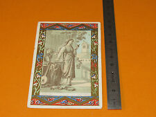CHROMO 1915-1930 CATHOLICISME IMAGE PIEUSE FEMME CRUCIFIX EGLISE PRIERE