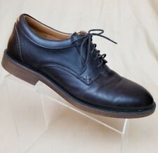 Sebago Men s Bryant Lace up Dark Brown Leather Pebbled Oxford Shoes Sz ... d7c5880eb