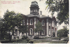 Postcard SPARTA WI Old High School burned down Early divided back 1908