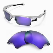 New Walleva Polarized Purple Lenses For Oakley Fast Jacket XL