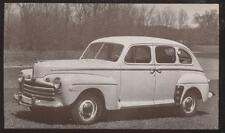 Dealer Promo Postcard  1946 FORD DELUXE 4 DOOR SEDAN