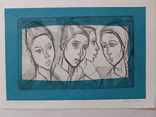 Irving Amen - Aviva Four Views - Artist Proof  Hand Signed and Numbered Litho