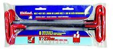 "Eklind Tool 8 Pc. 6"" Cushion Grip SAE T-Handle Hex Key"