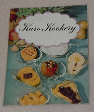 1942 Karo Kookery Syrup Sherbet Ice Cream Pie Cup Cake Recipe Cook Book Booklet
