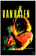 Van Halen: Eddie Van Halen * Hot For Teacher * Promotional Poster 1985