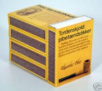 Pfeifenhölzer Streichhölzer Zündhölzer statt Feuerzeug Pfeifen+Zigarren 5er Pack