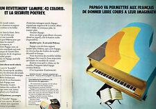 PUBLICITE ADVERTISING 034  1973  PAPAGO  matière décor revetement polyrey (2 pag