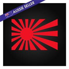 JDM Rising Sun Sticker Decal Japan - Red 150mm 180sx R32 R33 A31 R31 FT86 AE86