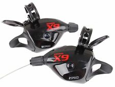 SRAM X9 Trigger Shifter Set (Front & Rear) Black/Red W/Clamp