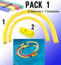 Conector churros piscina doble pack