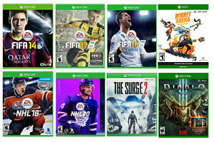 FIFA 14/17/18; NHL 18, 20; The Surge 2, Diablo III, Rocket Arena Games Xbox One