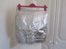 BNWT JOSH V SILVER METALLIC STRETCHY PENCIL MINI SKIRT SIZE M