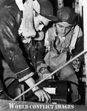 USAAF WW2 B-17 Bomber Mission Camera Installation 8x10 Photo 385th BG WWII