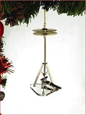 """METAL HIGH HAT 4.5"""" MUSICAL INSTRUMENT CHRISTMAS ORNAMENT GIFT BOXED"""