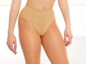 Silky Seamless High Cut Nude Dance Briefs