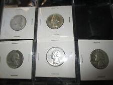 USA silver lot 5 X quarters 1964 AU-UNC