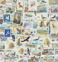 50 different Thematic Philately Birds stamp collection set mnh / used