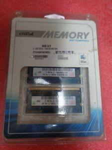 8GBKIT NEW BOXED CRUCIAL MEMORY 2-4GB DDR3L NOTEBOOK MAC LAP TOP MEMORY