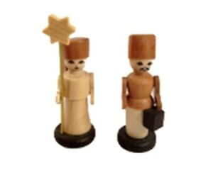 Angel And Miner 1 5/8in Figurine Table Erzgebirge New Christmas Seiffen
