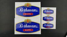 Rothmans Honda NSR 250 motorcycle fairing decals stickers set nsr250 Laminated