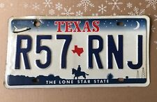 Texas License Plate 👉The Lone Star State Raised Letters R57•RNJ Collectible