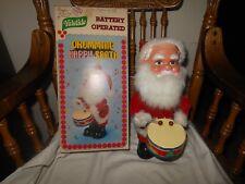 Vintage Battery Operated Korea Yuletide Drumming Happy Santa Boxed ~ Not Working