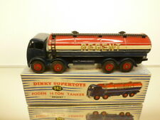 DINKY TOYS 942 FODEN 14-TON TANKER REGENT - BLUE+RED - GOOD CONDITION IN BOX