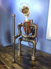 Robot Lamp Pipe Desk Lamp Hiking Industrial Decor Steampunk Lighting Man Cave