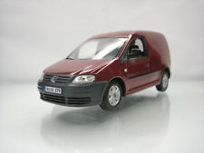 Diecast Minichamps Volkswagen Caddy 1:43 in Red Brown Very Good Condition