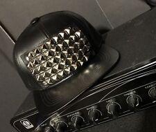 Studded Pyramid Genuine Leather Hat Made USA Premium Quality Punk Goth Hip Hop
