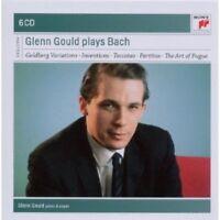 GLENN GOULD - GLENN GOULD PLAYS BACH 6 CD  CLASSIC SOLO PIANO J.S. BACH  NEU
