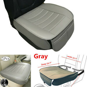 Gray PU Leather Car Front Seat Cover Protector Cushion For Interior Accessories