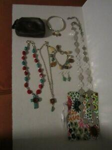 Brighton Jewelry Lot Necklace Bracelet Earrings Change Purse Bag