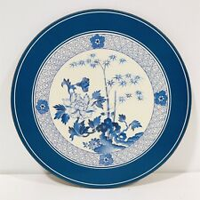 Vtg Pimpernel Acrylic Placemats Asian Flowers Bamboo Blue White Cork Backs Set 6