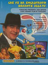 X7103 Chi ha incastrato Roger Rabbit? - Pubblicità 1989 - Advertising