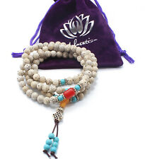Malasation Bodhi 108 Mala Beads Bracelet Necklace Elastic Meditation Praying