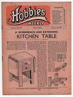 Vintage Hobbies Weekly Magazine Vol 111 No 2885 printed in 1951