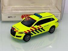 Wiking 007117 Ambulance Holland Notarzt Audi Q7 in OVP 8689