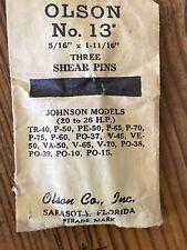 """Olson Shear Pin Set No. 13 (5/16"""" x 1 11/16"""") Johnson Models 20 to 26 H.P."""