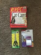 Lot Of 3: Cat No Scratch Tape & Cat Care by Steve Duno and Christopher Walken