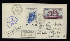French Antarctic   C84  cachet     on  cover  1988            KEL0928