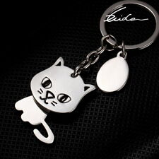 Cat Keychain Cute Cartoon Keyring Key Ring Chain Fob for Cat Lovers Owners Fans