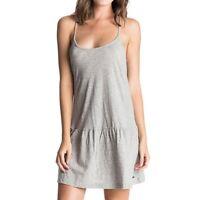 Roxy Pacific State kurzes Kleid Sommer Kleidchen Grey Trägerkleid ARJKD03035