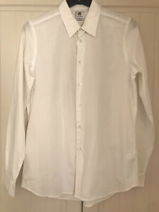 PAUL SMITH Men's White Long Sleeve Smart Shirt. Size Large, Tailored Fit