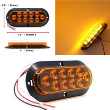 2Pcs Car Truck Amber 10 LED High Bright Side Marker Turn Signal Stop Brake Light