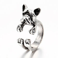 Vintage Fashion Punk Bulldog Opening Rings Novelty Cool Jewelry Gift Men Party